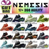 zapatos de exterior messi al por mayor-La mejor calidad al aire libre Tacos de fútbol para hombres Barato Nemeziz 17 Messi FG Zapatos de fútbol Nemeziz de cuero 17.1 Botas de fútbol Botas de fútbol deportivo