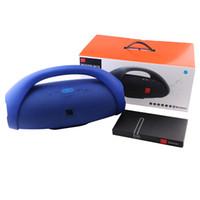 ücretsiz boombox toptan satış-Boom Kutusu Kablosuz Bluetooth Hoparlör Açık Taşınabilir Sütun Stereo Ses HiFi Bas su geçirmez Seakerphone Boombox Hoparlörler ücretsiz DHL