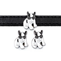 ingrosso collari di cane accessori diy-20pcs accessorio fai da te in lega di zinco cool dog scorrevole charm bead fai da te 8mm dog cat collare da polso