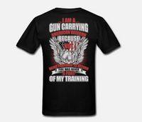 kıyafet tabancası toptan satış-YENI Mens Pro Gun 4XL Siyah T Gömlek Kulübü Vintage Ben Bir Gun Taşıma Erkek Öncesi Pamuk Giyim 100% Pamuk