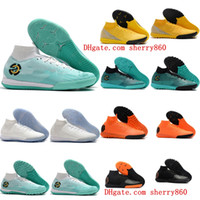 Wholesale gold youth cleats resale online - 2018 mens kids soccer cleats SuperflyX Elite TF indoor soccer shoes turf youth Crampons de football boots boys Mercurial Superfly new