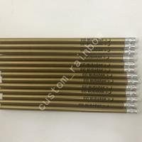 logos impressos china venda por atacado-alta qualidade preço barato China estacionária coloração preta grafite ouro lápis de madeira impressos 1000pcs logotipo personalizado granel transporte livre