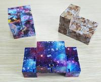 primeros juguetes de plastico al por mayor-7 Colores Infinito Cubo Creativo Magia fidget cubo antiestrés cubo juguetes Oficina flip Cubic Puzzle puzzles cubos mágicos envío gratuito