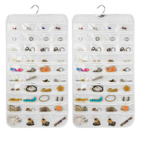 Wholesale Earrings Plastic Holder - Hanging Storage Bag Jewelry Holder Necklace Ring Earring Jewelry Pouch Organizer Bag Jewelry Display Bags Transparent Display