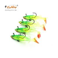Wholesale bass fishing lures for sale - 4pcs Grey Soft Lure cm g Wobblers Artificial Bait Silicone Fishing Lures Sea Bass Carp Fishing Lead Fish Jig
