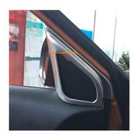 ring chrom auto großhandel-Für Suzuki Vitara 2016 2017 2018 stick ABS chrome Car rahmen innen Eine spalte Audio Sprechen Sound Cover Ring kreis lampe trim 2 stücke