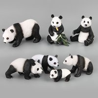 Wholesale zoo animal baby toys for sale - PVC Animals Figures Mini Zoo Jungle Animal Model For Sale Panda Baby Funny Boutique Cartoon Toys