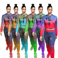Wholesale cycling jersey set long sleeve women for sale - 2018 autumn winter tracksuits pink letter printed piece set hit color casual lounge sportswear women tracksuit long sleeve outfits