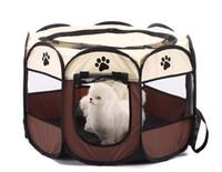 parques para mascotas al por mayor-Mascota Perro Gato Portátil Plegable Plegable Portador de mascotas Tienda de campaña Casa de Tela Parque infantil Jaula Jaula Tienda de campaña Al aire libre Interior Casa de cerca