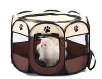Wholesale pet playpens online - Pet Dog Cat Portable Foldable Folding Pet Carrier Tent Fabric House Playpen Crate Cage Kennel Tent Outdoor Indoor Fence house