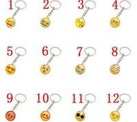 ingrosso portachiavi faccina-1000 pz Trendy Emoticon Collana pendenti Emoji Pendente portachiavi Smiley Face portachiavi gioielli Happy pendan Regalo J083