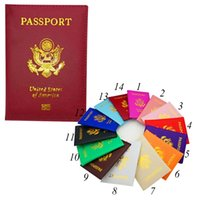 Wholesale passport protector cover - USA Travel Passport Holder Cover Case Wallet Purse ID Ticket Card Protector card case