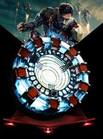 дисплей фигуры оптовых-[Funny]scale Arc Reactor A generation of glowing heart model with LED Light Action Figure Toy Display box