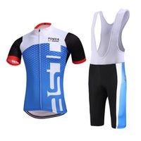 camisas de ciclismo unisex venda por atacado-Chegada nova Ciclismo Jersey com Bib Shorts Unisex Mangas Curtas Ternos de Roupas de Bicicleta Quick Dry Frente Zipper Wearable Respirável