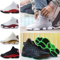 Wholesale Patent Green - 2018 Cheap men 13 basketball shoes Altitude 95 black cat bred black red white DMP GS Bordeaux Hyper Royal Wheat sports shoes 41-47