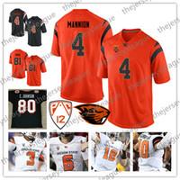 camiseta de fútbol 85 al por mayor-Oregon State Beavers # 80 Chad Johnson 85 Ochocinco C.Johnson 4 Sean Mannion 6 Jake Luton White Orange Jersey de fútbol americano universitario de la NCAA