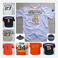Wholesale alex white baseball - Men Women Kids 2017 Houston Strong & WS Champions Gold Jerseys Carlos Correa George Springer Jose Altuve Nolan Ryan Alex Bregman Verlander