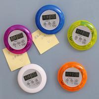 magnetic timer al por mayor-La última alarma magnética redonda del temporizador de cuenta regresiva de Digitaces con el soporte Temporizador de la cocina Práctico que cocina el despertador