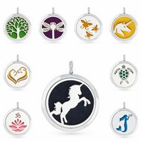 Tortoise Dog Unicorn Horse 30mm Magnet Essential Oil Aromatherapy Perfume Pendant Diffuser Locket Pendant Fit For Necklace Women Jewelry