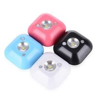 tavan ışıkları sensörü toptan satış-Mini Kablosuz Hareket Sensörü Tavan LED Gece Lambası Sundurma Duvar lambaları PIR Akıllı Insan Vücudu Hareket Indüksiyon Lamba