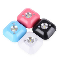 sensor de movimiento led techo al por mayor-Mini Wireless Motion Sensor Techo LED Night Light Porch Lámparas de pared PIR Intelligent Human Body Motion Lámpara de inducción