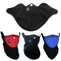 Wholesale snowboard neck warm half face mask for sale - Group buy Bicycle Cycling Motorcycle Half Face Mask Winter Warm Outdoor Sport Ski Mask Ride Bike Cap CS Mask Neoprene Snowboard Neck Veil