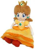 muhteşem peluş figürler toptan satış-15 cm Süper Mario Bros Serisi Prenses Papatya Dolması Peluş Oyuncak Bebek HEDIYE YENI