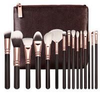 Wholesale o bag - HOT New Brand Z-O-E-V-A Brush 15pcs Set Professional Makeup Brush Set Eyeshadow Eyeliner Blending Pencil Cosmetics Tools With Bag Free Ship