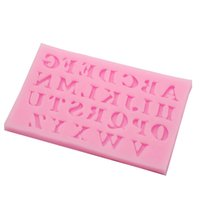 Wholesale Silicone Candle Mold 3d - Wholesale- New 26 English Letters Shape Fondant 3D Molds Silicone Mold Candle Moulds Sugar Craft Tools Chocolate Moulds Bake Ware