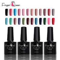 Wholesale nail smoother for sale - Group buy Fingerqueen Gel Nail Polish Different Colors Smooth Pretty Nails Gel Lacquer Nail Art ml Professional UV Polish