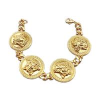 3e42c553b3ed Medusa AAA pulseras de cadena de lujo de moda chapado en oro Cadena de hip  hop Moda hombres Mental pulseras de una sola capa para hombres mujeres