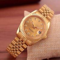 kadınlar için siyah saatler toptan satış-2019 marka en lüks İzle erkekler takvim black bay tasarımcı elmas saatler toptan yüksek kalite kadınlar elbise gül altın saat reloj mujer