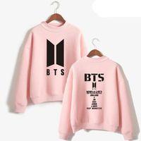Wholesale korean hoodies for men - Korean Fashion bts love yourself Harajuku Hoodie For Women Men Bangtan Hip Hop Pink Sweatshirt Pullovers Female Kpop Clothes