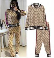 Wholesale women jumpers cardigans - Plus Size Hoodies jacket suit Women Jumper Pull Femme Autumn Winter Luxury Brand tags tracksuit set hoodies sale hoodie+ pants