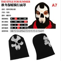 Wholesale headgear costume resale online - Q1011 Cycling Full Face Mask Balaclava Snowboard Riding Costume CS Headgear Hats Face Masks