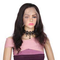 venta virgen peluca llena de encaje al por mayor-En venta entrega rápida aaaaaa remy virginal del pelo humano largo color natural onda del cuerpo peluca llena del cordón para las mujeres