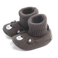 nubukleder echte schuhe großhandel-Wanderer Baby Neue Ankunft Winter Nubuk echtes Leder Quasten Art Säugling Baby Winter Schuhe für Mädchen #QJ