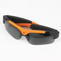 video sonnenbrille großhandel-HD720P Eyewear Video Recorder Videokamera Gläser Mini HD Cam Sonnenbrille Brillen MicroSD (TF) Karte Smart Sungassess