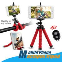 trípode clip flexible al por mayor-Universal Mini soporte flexible para trípode para teléfono celular Selfie Monopod montaje soporte para trípode soporte para soporte con clip