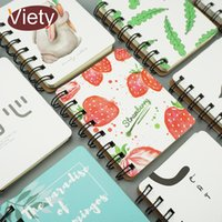 Wholesale cartoon spiral notebook resale online - cartoon flamingo strawberry spiral notebook mini portable week planner diary notepad stationery office school supplies page