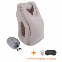 Wholesale travel neck pillows for airplanes online - 2017 Most Fashion Inflatable Travel Pillow For Airplanes Car Train Office School Nap Travel Pillow For Sleeping