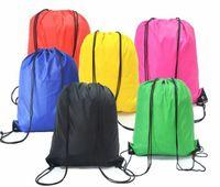 Wholesale wholesale plain clothing online - Kids Drawstring Bag Clothes Shoes Bags School Sport Gym PE Dance Backpacks Nylon Backpack Polyester Cord bag