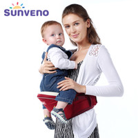känguruhhalter großhandel-Sunveno Ergonomic Baby Carrier Kangaroo Baby Holder Hüftsitzträger Haufen Neugeborenen Tabouret Schulter Wrap Sling Porte