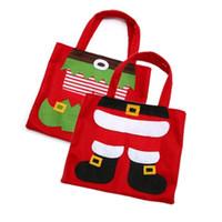 Wholesale santa candy boot for sale - Group buy Christmas Gift Bag Santa Pant Boot Candy Bag Restaurant Wine Bag Decoration Xmas Santa Gift Bags Christmas Decoration