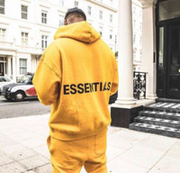bayım adam toptan satış-2019 Korkusu Tanrı X ES Büyük Logo Baskılı Kadın Erkek Boy Hoodies Kazak Hiphop Streetwear Erkekler Cottoon Hoodies Kazak FOG