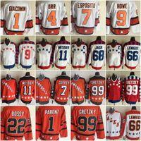 Wholesale Mario Stars - All Star Hockey Jerseys 68 Jaromir Jagr 11 Mark Messier 66 Mario Lemieux 4 Bobby Orr Bernie Parent Mike Bossy Vintage Hockey jerseys