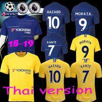 Thailand quality maillot de foot 2018 2019 Eden Hazard soccer jersey  Fabregas KANTE MORATA Giroud football shirt kit 18 19 camisetas b05d9bdc0