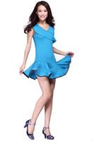 kinder latin tanz tragen kostüme großhandel-Square Dance Kleid Kostüm Latin Tanzkleidung Rock und Anzüge der neuen Frauen ärmelloses Kleid Kind Frauen tragen tanzen Kostüme Sets