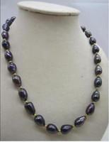 ingrosso l'acquisto di perle naturali-Best Buy Pearls Jewelry CHARMING 9-11mm Natural SUD MAR NERO PERLA COLLANA 18