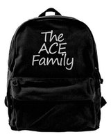 Wholesale The Ace Family Canvas Shoulder Backpack Cute Backpack For Men Women Teens College Travel Daypack Black